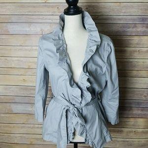 Loft Ruffle Trim Shirt/Jacket Size 12P